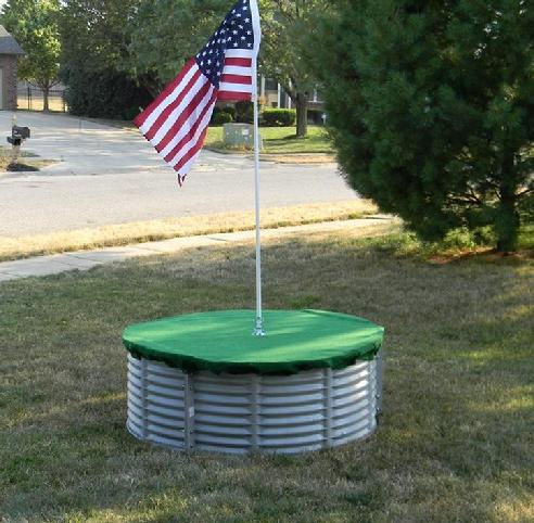 how to make a floating golf green